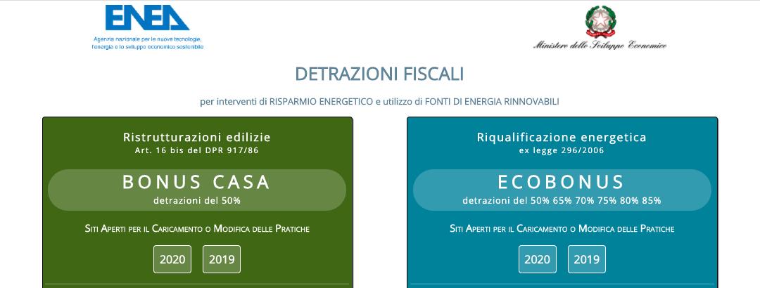 Detrazioni Fiscali: invio lavori 2020